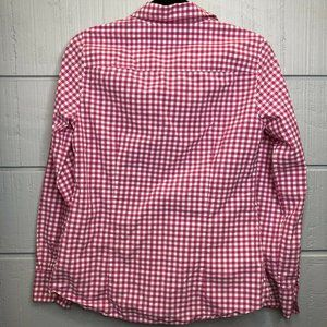 J.CREW Tops - J Crew 10 Women's Perfect Shirt Pink & White Gingh